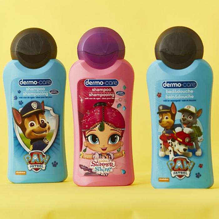 PAW Patrol and Shimmer and Shine for Dermo Care